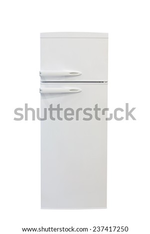 refrigerator isolated on a white background - stock photo