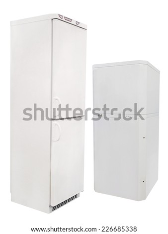 refrigerator isolated under the white background