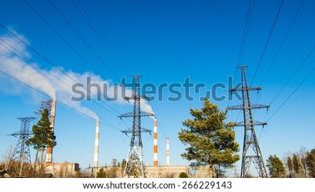 Reftinsky Teploenergostantsija, Ural Mountains, Russia, Power