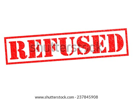 REFUSED red Rubber Stamp over a white background. - stock photo