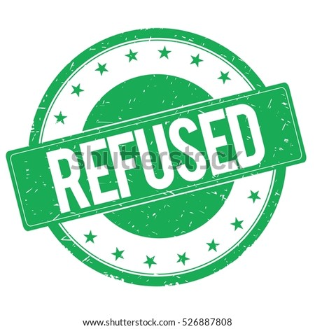 REFUSED stamp sign text word logo green.
