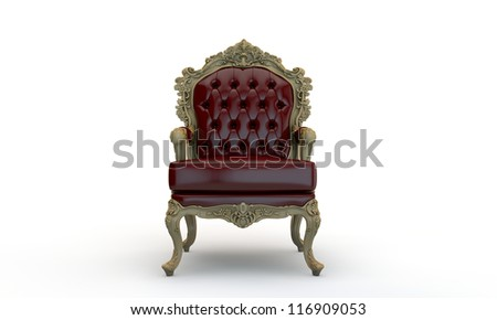 regal armchair isolated on white background