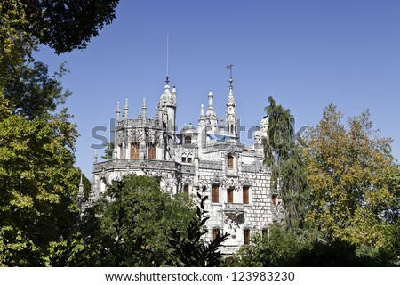 Regaleira Palace  - Quinta da Regaleira - stock photo