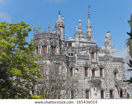 Regaleira Palace - Quinta Regaleira in Sintra, Portugal - stock photo