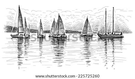 regatta - stock photo