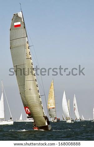 regatta to trieste - stock photo