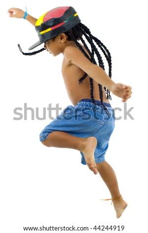 Reggae boy - Child with rastafari hat . - stock photo