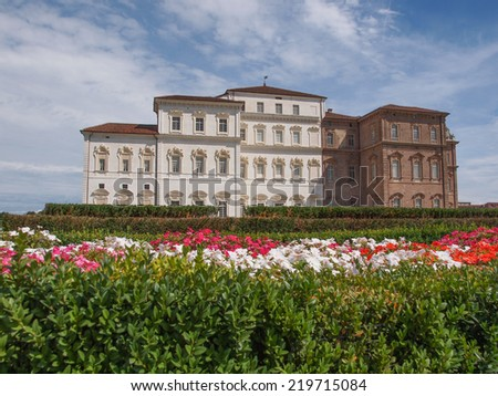 Reggia baroque royal palace in Venaria Reale Turin Italy