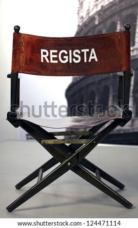 Regista - Italian cinema director. - stock photo