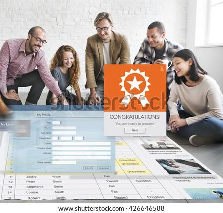 Register Enter Membership Sign-in Socialize Concept - stock photo