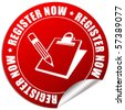 Register now icon - stock photo