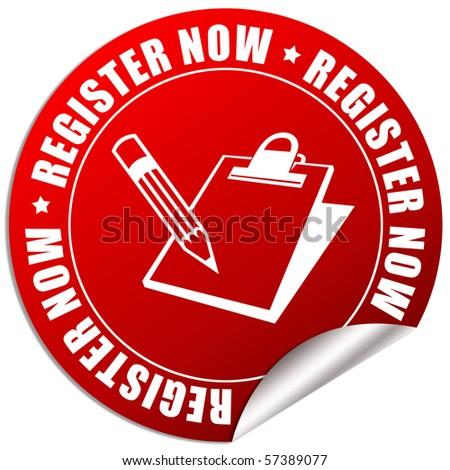 Register now icon - stock photo