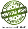Register now stamp - stock photo