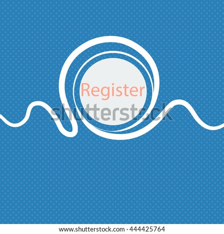 Register sign icon. Membership symbol. Website navigation. Blue and white abstract background flecked with space for text and your design. illustration - stock photo