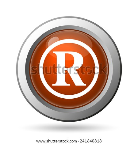 Registered mark icon. Internet button on white background.  - stock photo
