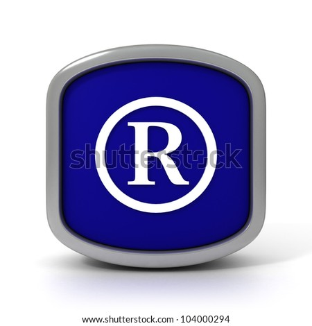 Registered trademark Icon Isolated on a White Background. Part of a series - stock photo