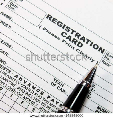 Registration blank form