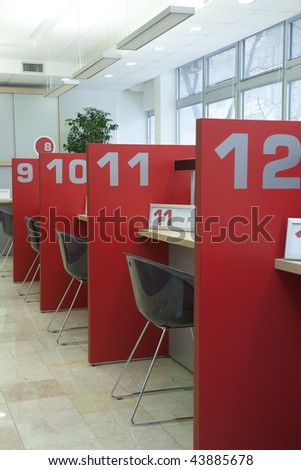 registration counter - stock photo