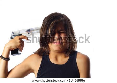 Regretting Suicide - stock photo