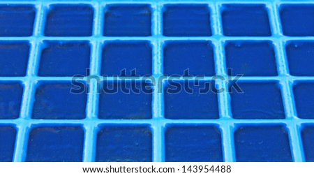 regular blue grid background in very heavy metal