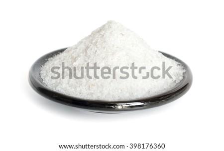 Regular Table Salt. Isolated on white background.  - stock photo