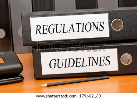 Regulations and Guidelines - stock photo