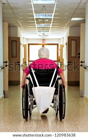 REHOVOT - JULY 17:Residents of the nursing home Hadarim on July 17, 2011 in Rehovot, Israel.Medical Marijuana use has been permitted since the 90s for patients pain-related illnesses - stock photo