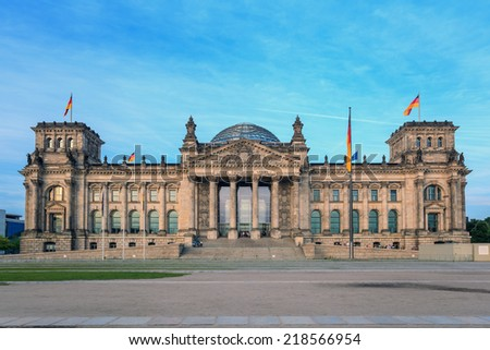 Reichstag at Berlin, Germany - stock photo