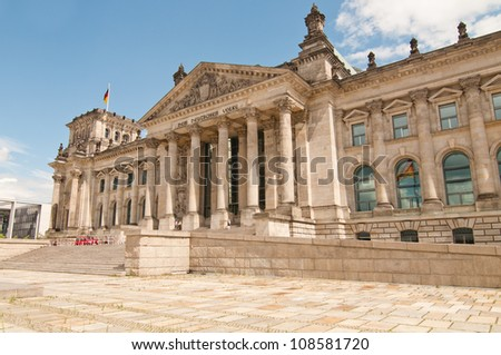 reichstag building, berlin - stock photo