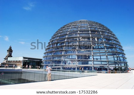 Reichstag sphere - stock photo