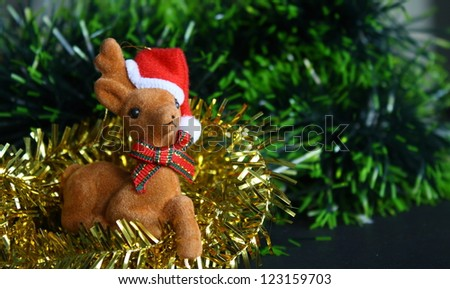 reindeer doll for christmas and new year celebration