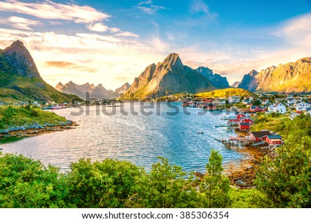Reine, Lofoten, Norway,