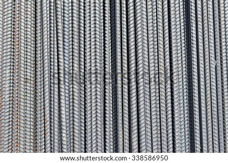 reinforce steel iron rod - stock photo