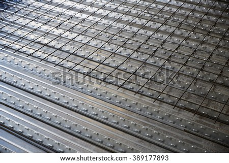 reinforced concrete slab with sheet metal formwork