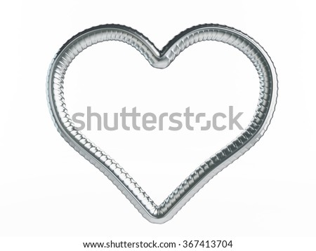 reinforcement heart symbol. 3d Illustrations on a white background - stock photo