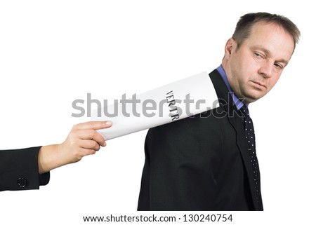 reject contract - stock photo