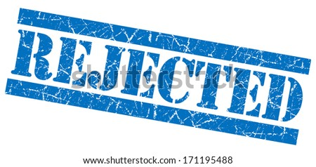 Rejected grunge blue stamp - stock photo