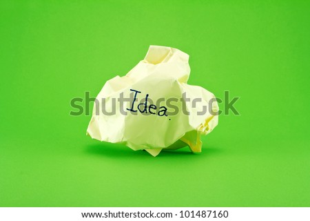 Rejected idea concept with paper - stock photo