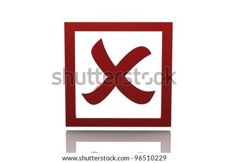 Rejected sign - stock photo