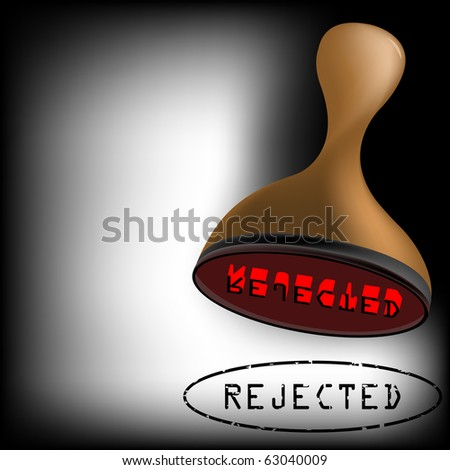 rejected stamp, abstract art illustration; for vector format please visit my gallery - stock photo