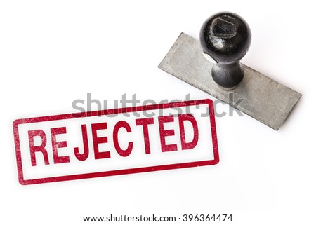 rejected text sign label stamp. - stock photo