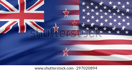 Relations between two countries. USA and New Zealand.