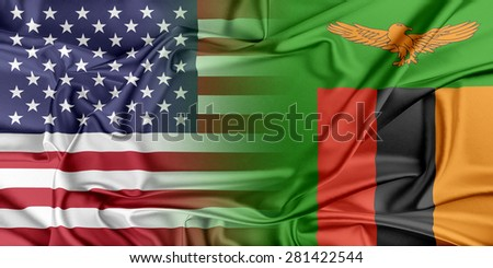 Relations between two countries. USA and Zambia