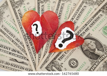 relationship and money - stock photo