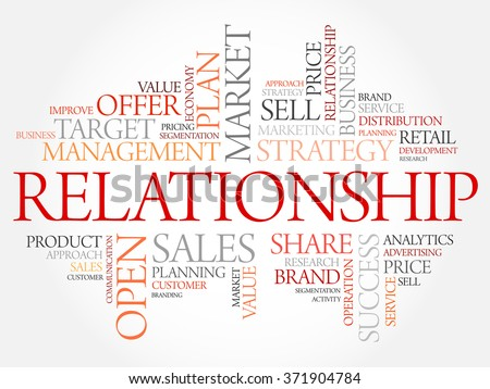 Relationship word cloud, business concept - stock photo