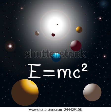 Relativity equation - stock photo