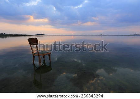 Relax at sunset on the lake