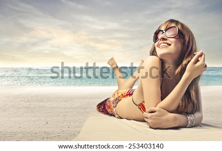 Relax at the seaside  - stock photo