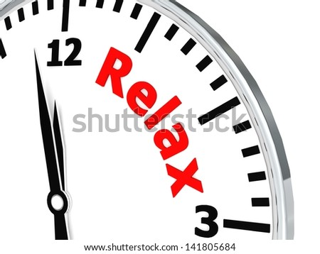Relax clock - stock photo