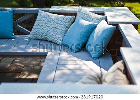Relax in the garden - stock photo